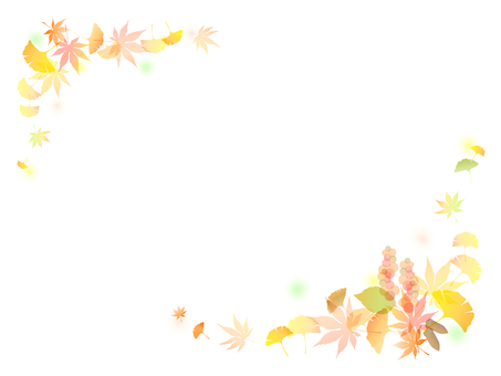 Colored leaves Ginkgo background - 9