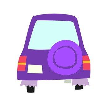 紫の車バック