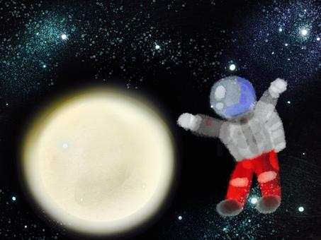 Space space suit astronaut moon
