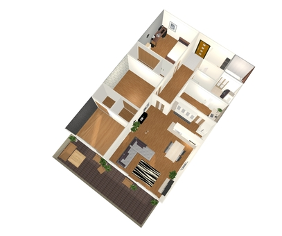 3LDK Floor plan ⑤ (3D stereogram from oblique)
