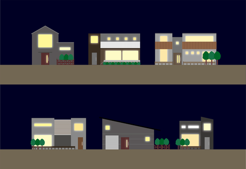 Detached house_night