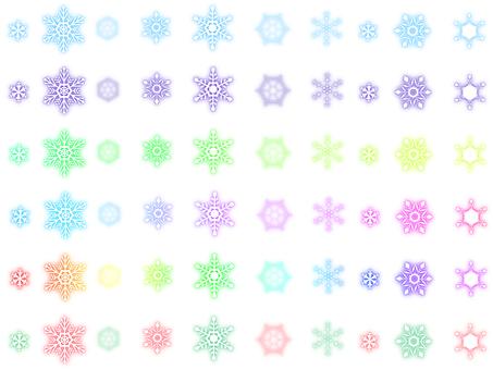Snow crystal line