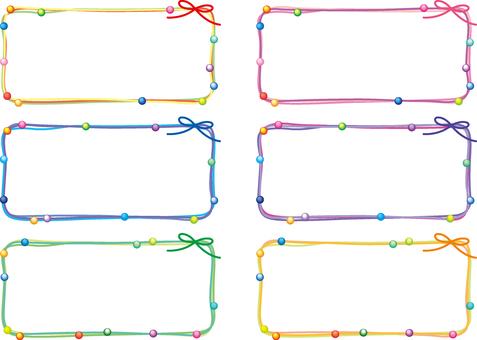 Thong frame set (beads) 2