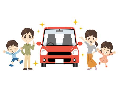 B478_家族と車_車ピカピカ