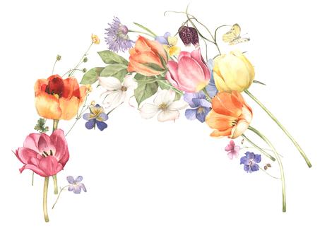 Flower frame 250 - cute flower frame nice scene frame