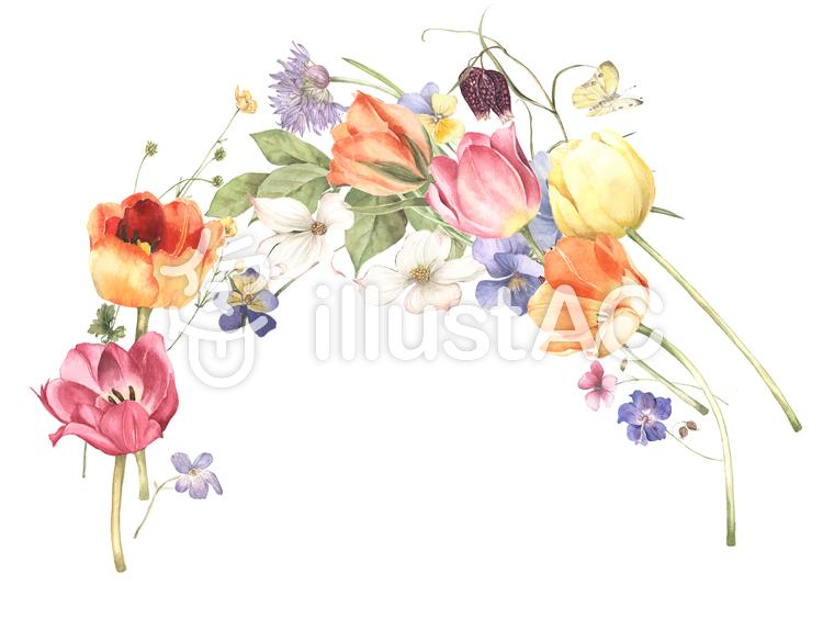 花枠250可愛い花枠嬉しい場面フレームイラスト No 892755無料