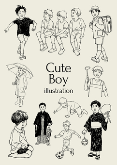 Cute boy illustration