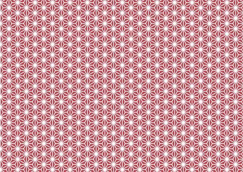 Japanese pattern hemp leaf red ★ 0334-B
