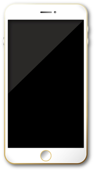 Smartphone white / gold