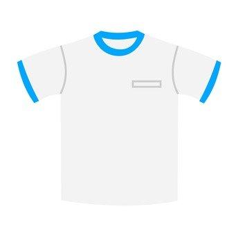 Blue gym clothes