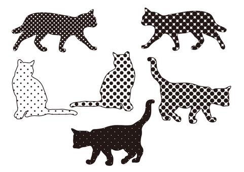 Cats polka dots