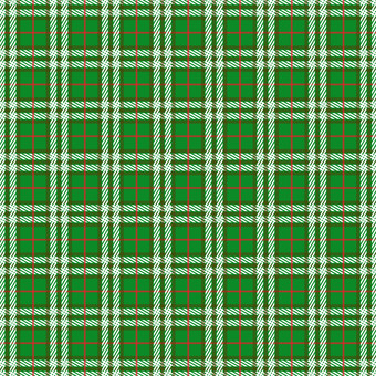 Fall and winter material (green check background)