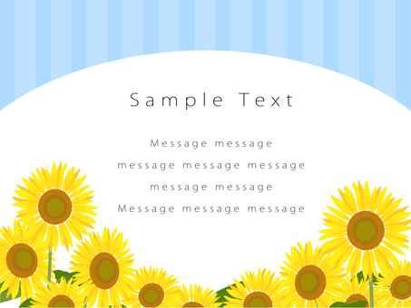 Sunflower field postcard 01