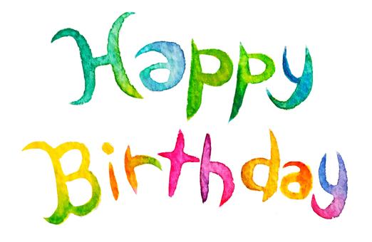 Happy birthday watercolor character