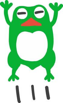 Frog to unwind cute jumping