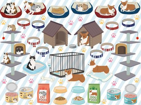 Pet goods set