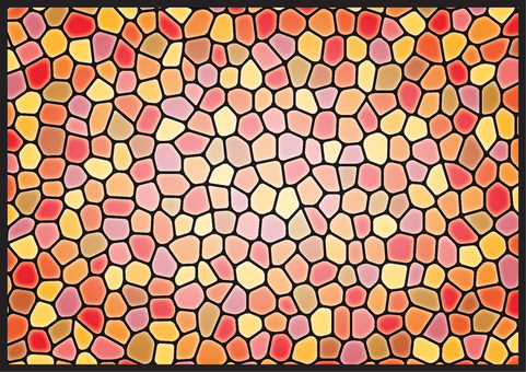 Stained glass (warm color)