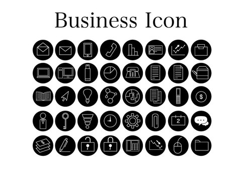 Business icon (black frame)