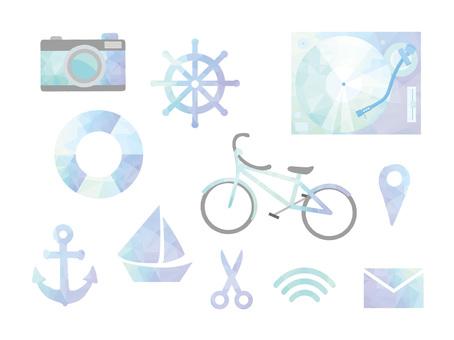 Polygon style illustration