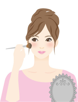 Woman pink to make makeup
