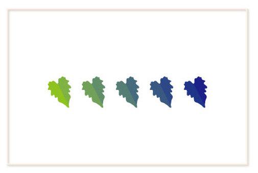 녹색 담쟁이 잎 인사말 카드