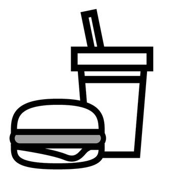 Hamburger juice food icon
