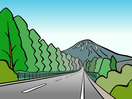 Mt. Yotei in early summer