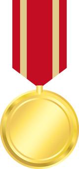 Medal ribbon red