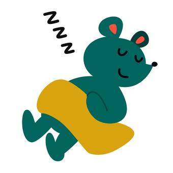 Sleeping rat