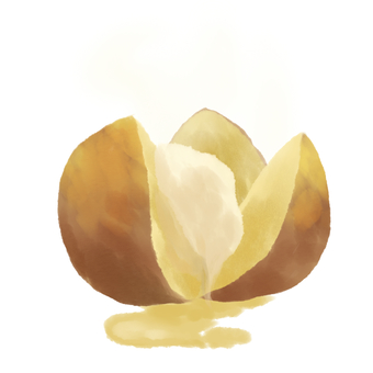 Potato butter without background