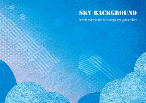 푸른 하늘 배경 일러스트 02-2