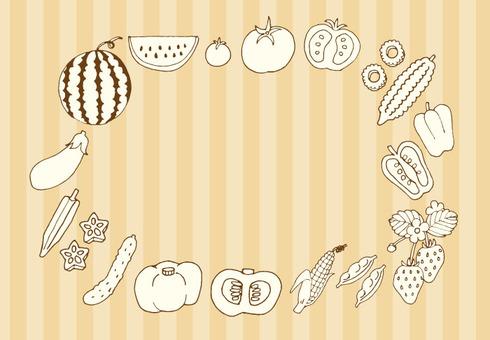 Summer vegetable set (white-colored beige)