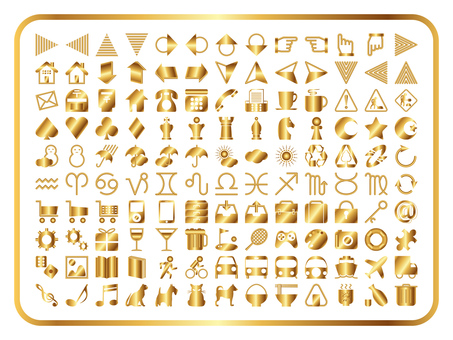 Icons Various sets (Gold)