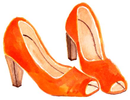 Orange Pumps
