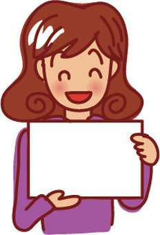 Smiling woman with paper