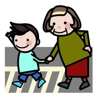 Walk with grandchildren