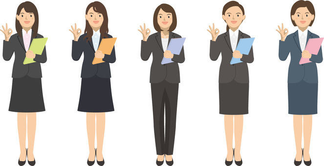 Female set with suit with a file 2