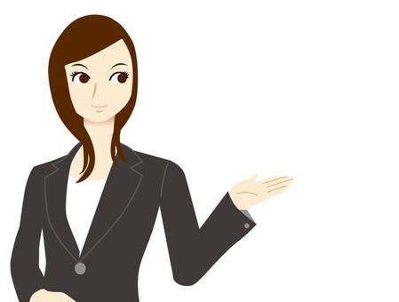 Women receptionist