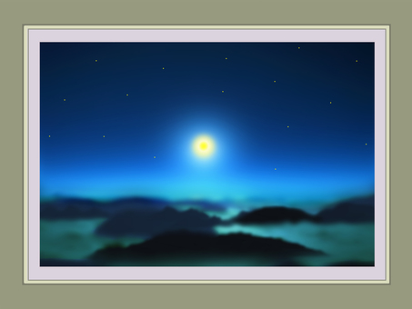 Photo frame moonlight