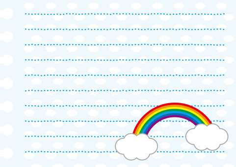 Rainbow and cloud memo paper