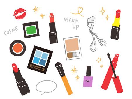 Handwriting cosmetics various