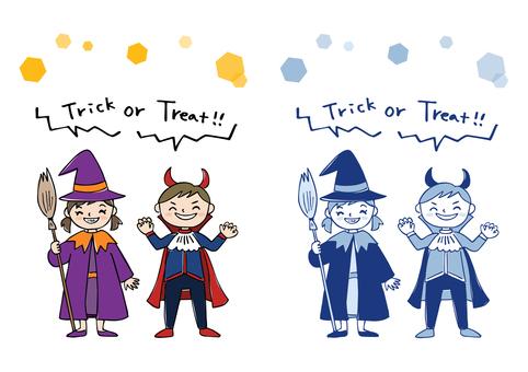 Children / hand-painted Halloween costumes