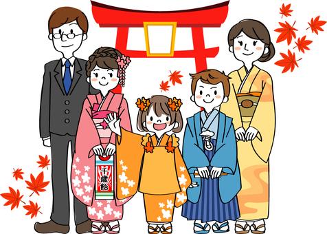 Shichigosan-going family family