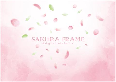 Cherry blossom petal background frame