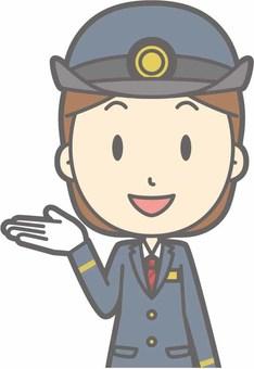 Stationer lady a - Information smile - bust