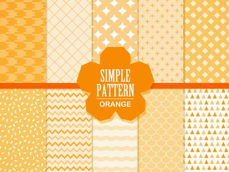 간단한 패턴 (오렌지)