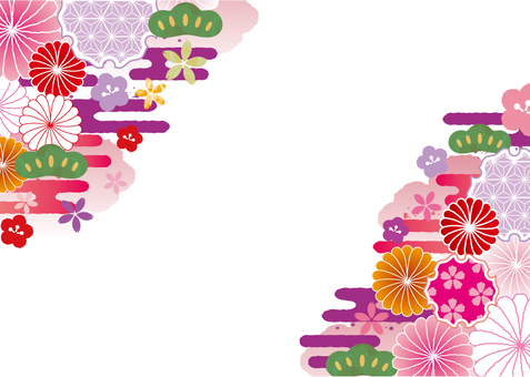 Japanese Pattern Background Material 9