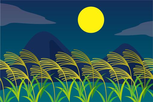Landscape Suki and full moon