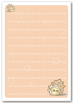 "Sazae Notepaper 02 ""with envelope"""