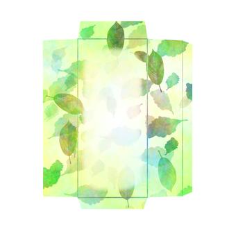 One-stroke writing paper envelope leaves
